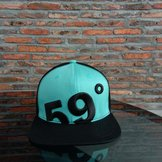59°North Wheels Snapback Black/Turqouise