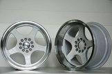 "59°North Wheels D-004 9,5x17"" ET5 5x100/5x108 white/polished lip"