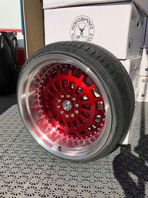 """59°North Wheels D-007 11x19"""" ET20 5x114/5x120 Candyred/polished"""