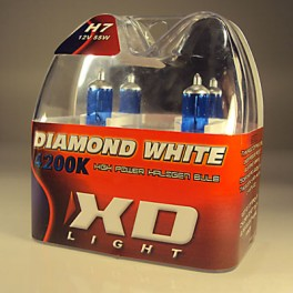 H7 DIAMOND WHITE BULBS 4200K - 55W- PAIR IN BOX