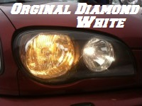 H9 DIAMOND WHITE BULBS 4200K - 55W- PAIR IN BOX